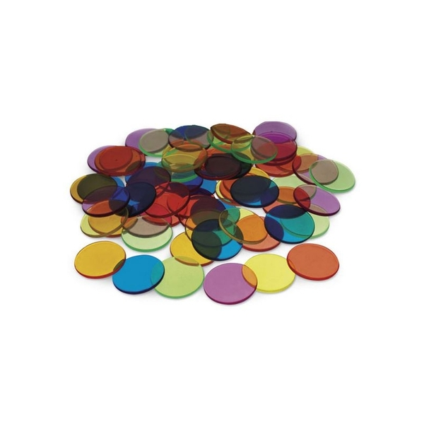 LER - 250 petits jetons transparents