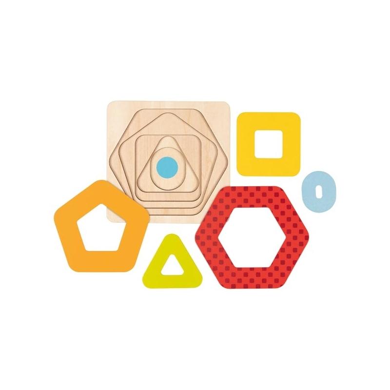 Goki - Puzzle à couches Les Formes II