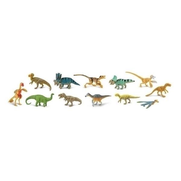 Safari - 12 figurines Dinosaures a plumes