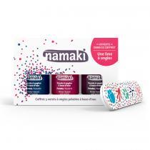 Namaki - Coffret 3 vernis Bleu Nuit - Griotte - Prune
