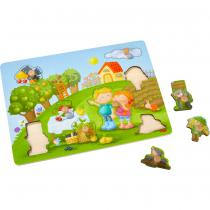 Haba - Puzzle A Boutons Le Verger