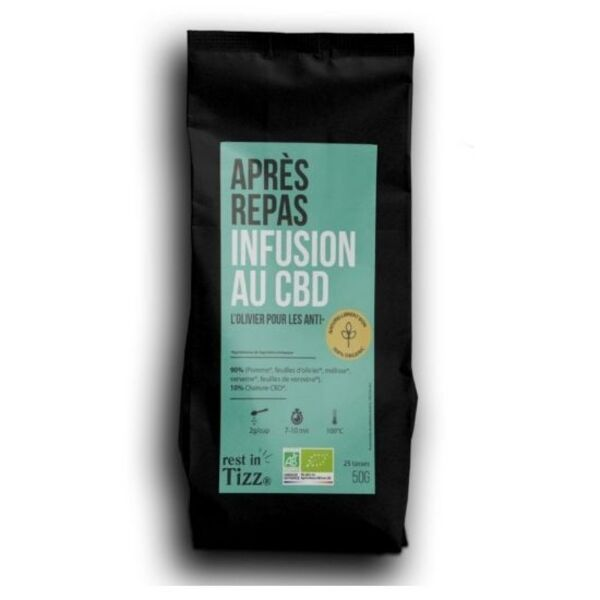 Cids - APRÈS REPAS INFUSION AU CBD BY TIZZ® 6x50grs