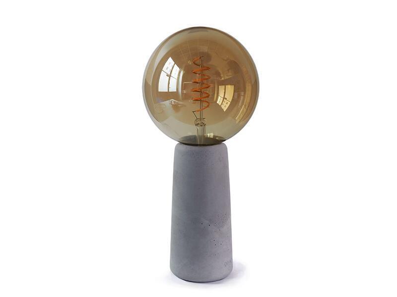 Gone's - PHARE - Lampe à poser en béton avec ampoule style Edison