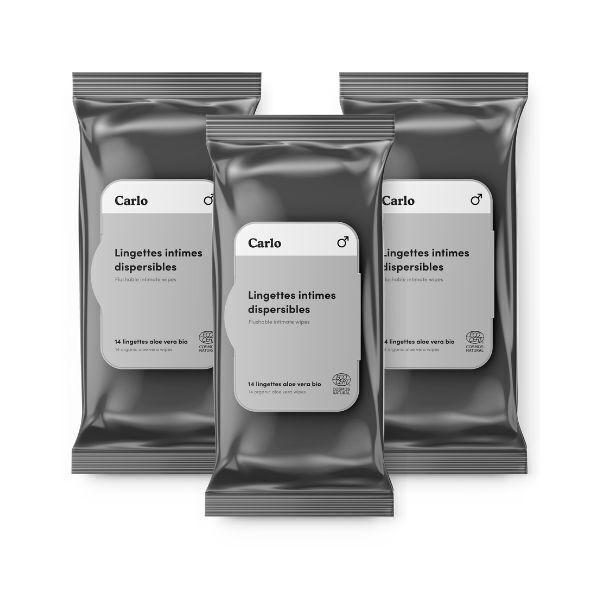 L'Essuie-Fraise - L'Essuie-Fraise - 3 paquets - Lingette intime homme