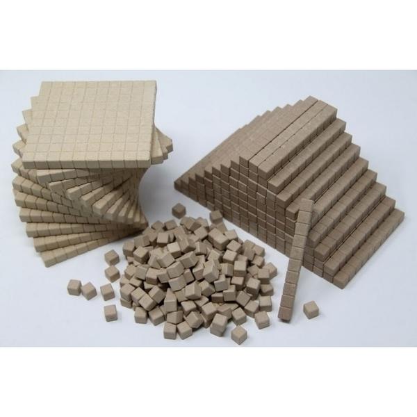 Wissner - 432 pieces bois base 10 en bois naturel