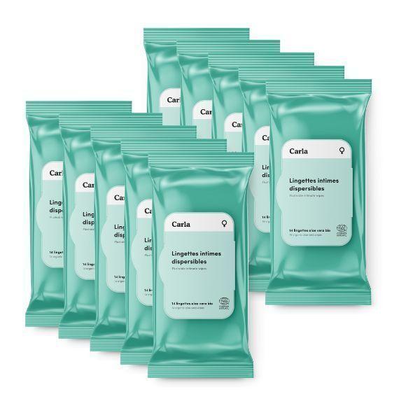 L'Essuie-Fraise - L'Essuie-Abricot - 10 paquets - Lingette intime femme