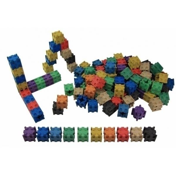 Wissner - Lot de 100 cubes encastrables colorés