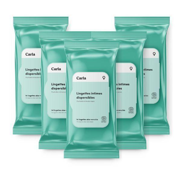 L'Essuie-Fraise - L'Essuie-Abricot - 5 paquets - Lingette intime femme