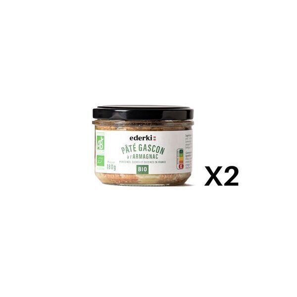Ederki - Pâté Gascon  à l'armagnac lot de 2