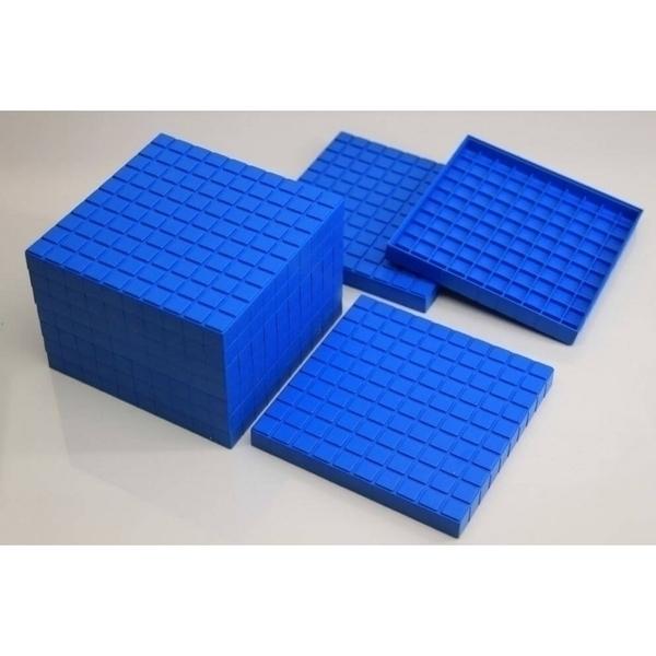 Wissner - 10 plaques de 100 bleues- base 10 - en Re-Plastic