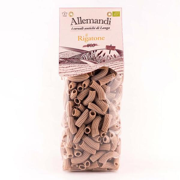 Saveurs de Tosca - Rigatoni Pâtes avec 4 farine de céréales BIO Pâtes Allemandi Pas