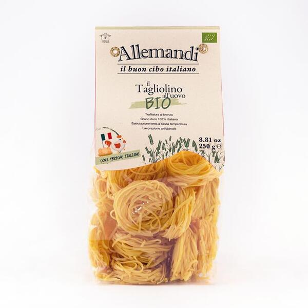 Saveurs de Tosca - Tagliolini aux oeufs de Carrù BIO Pâtes Allemandi - Nid de 250 g