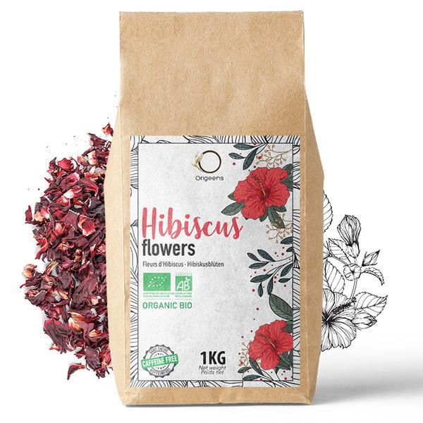 Origeens - Fleurs d'Hibiscus Bio ~ 1kg