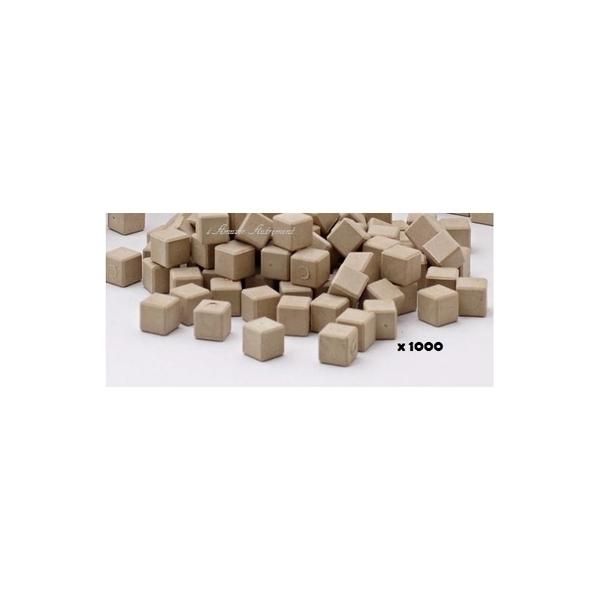 Wissner - 1000 cubes unités en bois naturel base 10