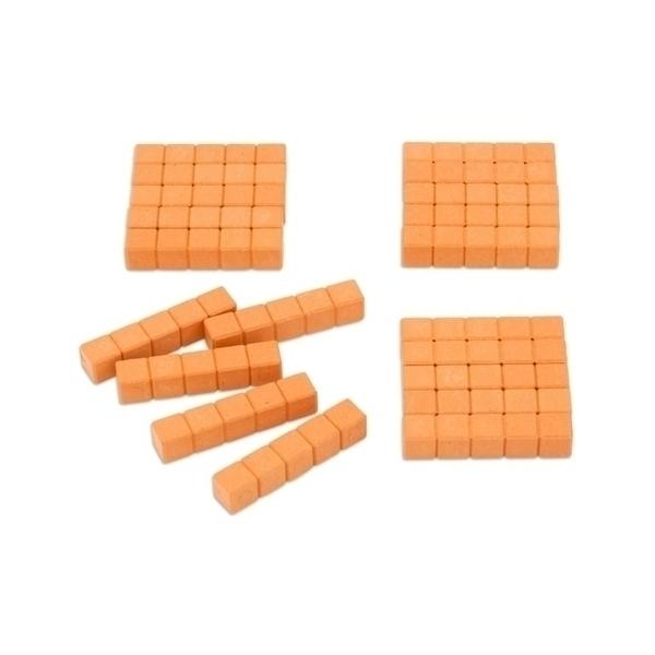 Wissner - 20 barres de 5 - base 10 en bois - orange