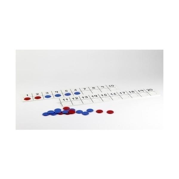 Wissner - Grand set numération 1-20 avec jetons bicolores