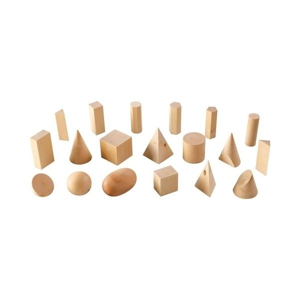LER - 19 solides géométriques bois