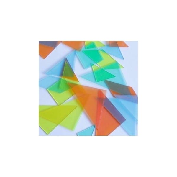 Wissner - Lot de 4 tangrams transparents pastels