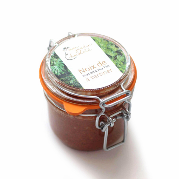 Mon Jardin Chocolaté - Noix de macadamia bio à tartiner