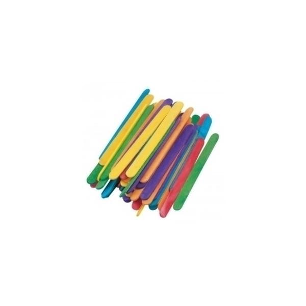 Eduplay - Bâtonnets bois colorés, petit modèle