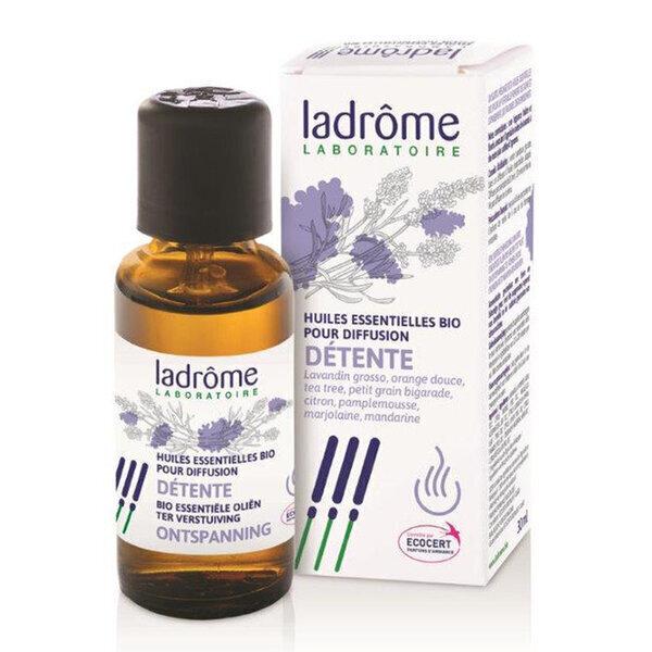 Ladrôme - Détente - Mélange huiles essentielles pour diffuseur bio 30ml