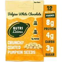 Nutrilicious - Graines de courge au chocolat blanc x 12 sachets