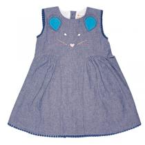 Piccalilly - robe fille 2 ans sans manche couleur jeans CHAMBRAY