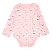Jollein baby - Body bébé 12 mois manche longue, couleur Lama rose
