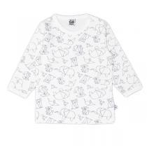 Pippi babyware - t-shirt bebe 1 mois, motif origami, couleur blanc