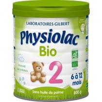 Physiolac - Physiolac Bio 2 - lot de 6 boites de 800g