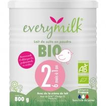 Everymilk - Lait infantile Bio everymilk 2 de 6 mois a 1 an - 1 boite