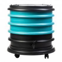 Wormbox - Lombricomposteur WormBox 3 Plateaux Turquoise, 48L