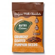Nutrilicious - Graines de courge au chocolat au lait x 12 sachets
