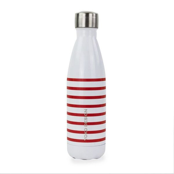 Yoko Design - BOUTEILLE ISOTHERME 500 ML MARINIERE ROUGE