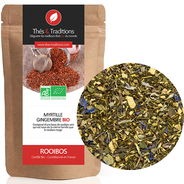 Thés & Traditions - Rooibos myrtille gingembre BIO