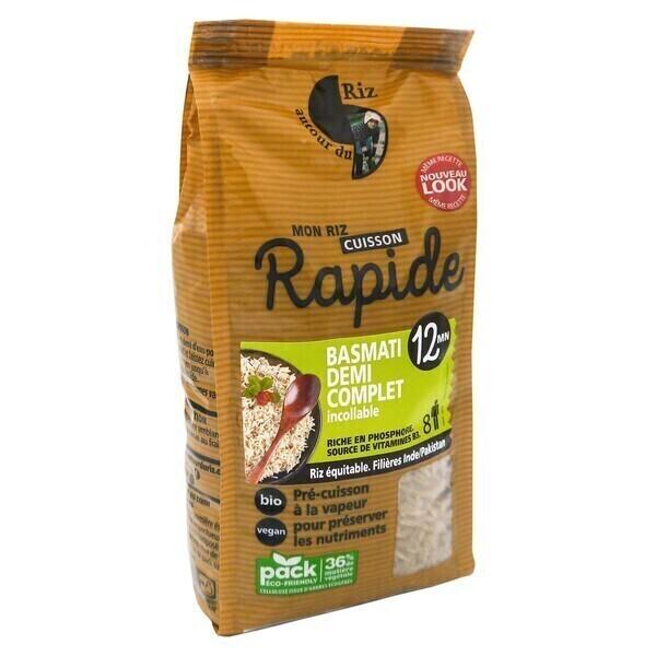 Autour du Riz - Riz Basmati 1/2 complet cuisson 12mn 500 g