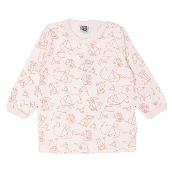 Pippi babyware - t-shirt bébé naissance, motif origami, couleur orange