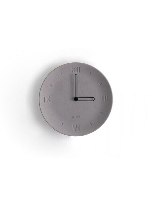 Gone's - ANTAN - Horloge en béton aiguilles noires
