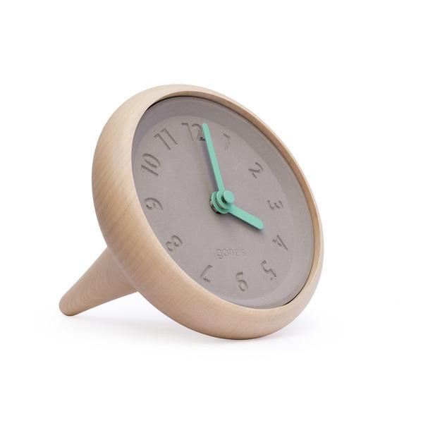 Gone's - TOUPIE - Horloge de table en bois et béton