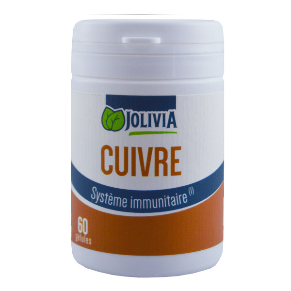 Jolivia - Cuivre - 60 gélules de 2 mg