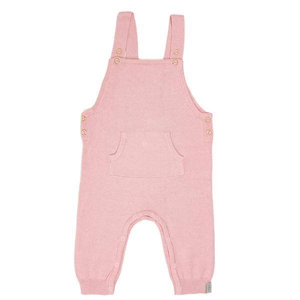 Jollein baby - Salopette bébé 12 mois en coton tricot, barboteuse bébé rose
