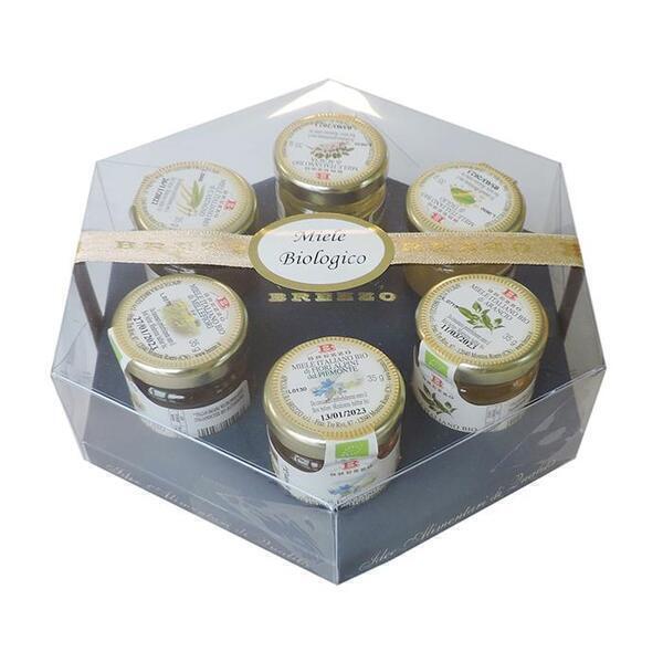 Saveurs de Tosca - Coffret Collection 6 Miels Bio haute qualité 100% italienne - 21