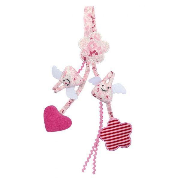 Trousselier - Trousselier Hochet Berceau Porte Tétine Rose 20Cm