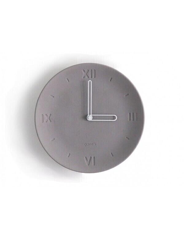 Gone's - ANTAN - Horloge en béton aiguilles blanches