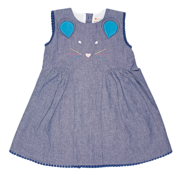 Piccalilly - robe fille 3 ans sans manche couleur jeans CHAMBRAY
