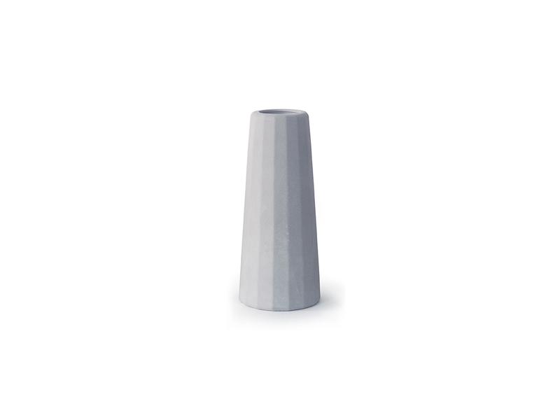 Gone's - FACETTE - Vase soliflore en béton (moyenne taille) H12cm