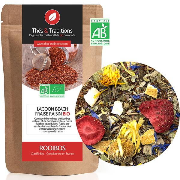 Thés & Traditions - Rooibos fraise raisin BIO