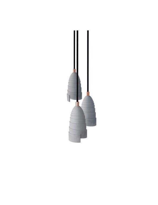 Gone's - FLANELLE TRIPLE - Suspensions béton et accessoires cuivrés