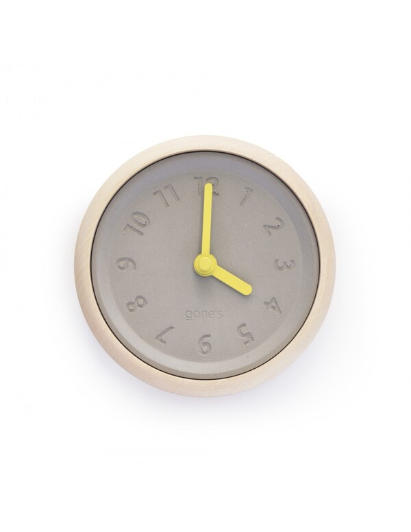 Gone's - TOUPIE - Horloge murale en bois et béton