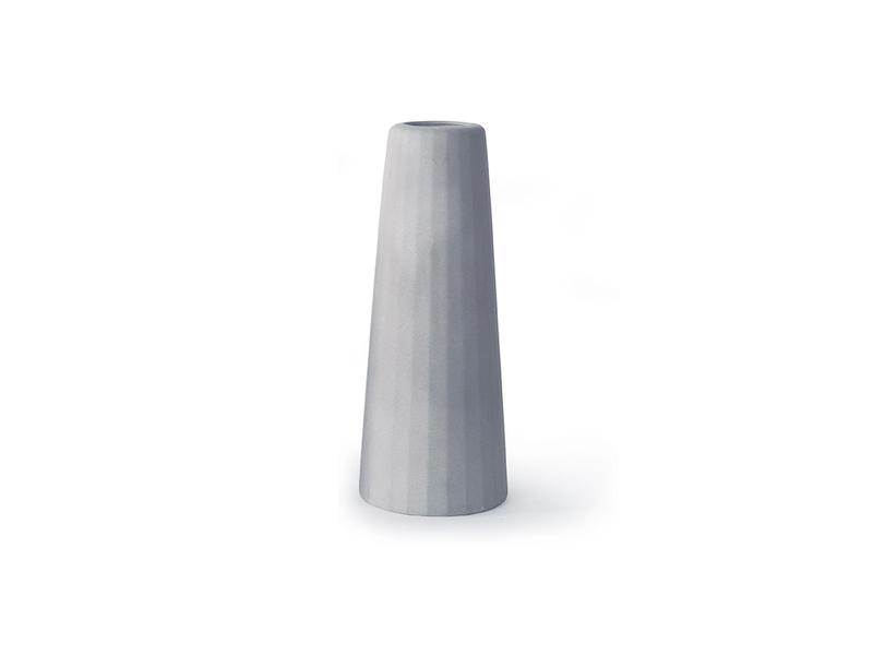 Gone's - FACETTE - Vase soliflore en béton (grande taille) H16cm